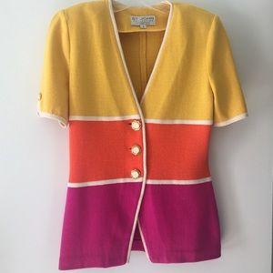 St. John Santana Knit Colorblock Blazer